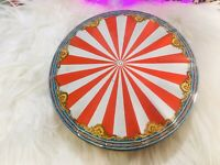 VINTAGE Sunshine Biscuit Collectible Embossed Carousel Gift Tin EVC