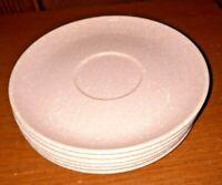6 Melmac PINK Speckled Saucers ~ Vintage