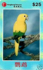 YELLOW PARROT, CHINESE PHONE CARD, HONGKONG TELECOM, VERY HARD TO FIND, N° 03