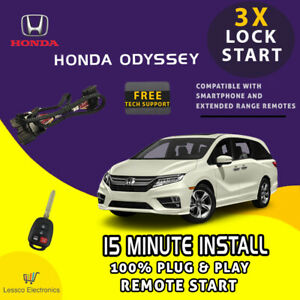 100% Plug & Play Remote Start fits: 2014-2017 Honda Odyssey Van w/ Push To Start