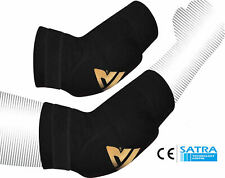 RDX Adjustable Elbow Support Bandage Brace Sleeves Guard MMA Arm Pads Wrap OS