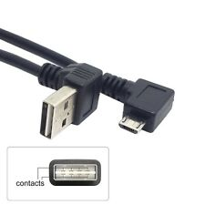 USB 2.0 Male to Right D Micro USB 5P Male Cable Reversible Up & Down Angled 90D