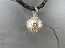 "Balinese Harmony Ball pendant genuine 925 silver 14mm ""Butterfly""  with cord"