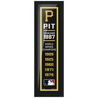 """Pittsburgh Pirates World Series Champions Photo (Size: 8"""" x 24"""") Framed"""
