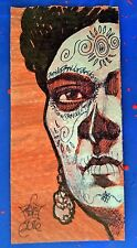 Day of the dead, original Frida Kahlo painting drawing  by  Rocio Hoffmann