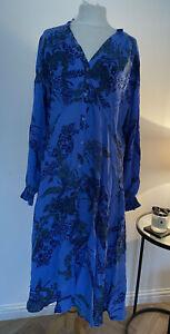 BNWT NEXT FLOATY BLUE FLORAL DRESS UK SIZE 20
