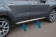 Chrome Side Door Streamer Trim Set Covers To Fit Fiat 500X (2014+)
