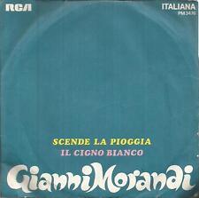 disco 45 GIRI Gianni MORANDI SCENDE LA PIOGGIA - IL CIGNO BIANCO