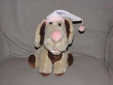 VINTAGE GANZ BROS WRINKLES DOG STUFFED PLUSH PUPPY SHAR PEI PINK NIGHTCAP CAP