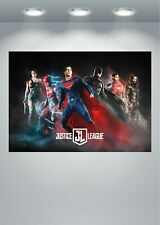 La Liga De La Justicia Superman Batman Película gran impresión de arte cartel