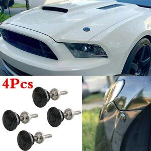 4x Universal Push Button Billet Hood Pins Lock Clip Kit Car Quick Latch Bonnet