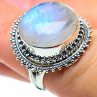 Rainbow Moonstone 925 Sterling Silver Ring Size 6 Ana Co Jewelry R29607F