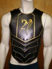 Dragon Scale leather armor chest & back with graphic LARP COSPLAY
