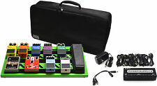 Gator GPB-BAK-GR Screamer Green Pedalboard Bundle with Power Supply and Bag