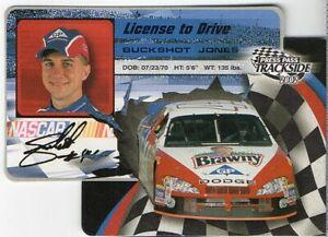 BUCKSHOT JONES 2002 Press Pass Trackside License to Drive # LD 16/36