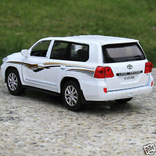 Toyota Land Cruiser 1:32 Alloy Diecast Car Model Collection Sound & Light White
