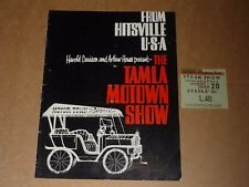 Tamla Motown Show 1965 UK Tour Programme + Ticket (Supremes/Martha & Vandellas)