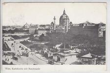 AK Wien IV, Karlskirche mit Naschmarkt, 1909