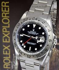 Rolex Explorer II Steel Black Dial Mens Watch Box/Papers T 16570
