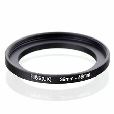 39-46 39mm to 46mm 39-46mm Matel Step-up Stepping Up Ring Filter Adapter Black