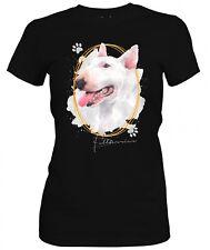Las señoras camiseta Bull Terrier firma perros el tema por SIVIWONDER