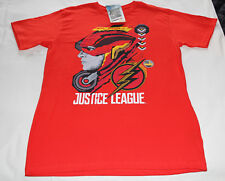 DC Comics Justice League The Flash Mens Red Printed T Shirt Size L New