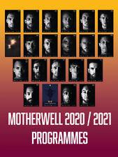 More details for 20/21 motherwell home programmes - full set