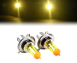 YELLOW XENON H4 100W BULBS TO FIT Fiat 128 MODELS