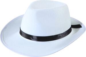 Bogart Hut in weiß zum Gangster Kostüm an Karneval Fasching