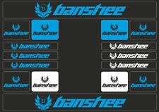 BANSHEE Mountain Bicycle Frame Decal Stickers Graphic Set Adhesive Vinyl Blue