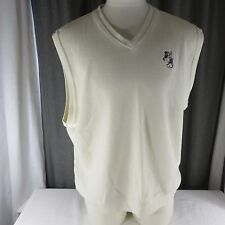 Greg Norman Mickey Mouse Disney XXL Pullover Golf Vest Off White Ivory