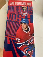 unused season hockey  tickets Montreal Canadiens Josh Brook