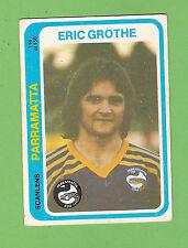 1979  PARRAMATTA EELS  SCANLENS  RUGBY LEAGUE CARD  #116  ERIC GROTHE