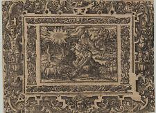 GOTT brennender BUSCH Original Ornament Holzschnitt um 1650 Schafe Rollwerk