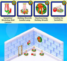 !!Pick 2!! 2008 Webkinz RETIRED Santakinz Workshop Christmas Room Theme Items