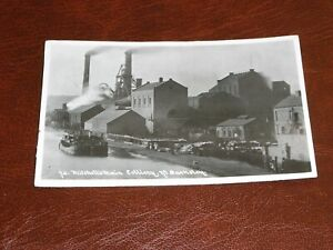 ORIGINAL REAL PHOTO POSTCARD - MITCHELL'S MAIN COLLIERY NR BARNSLEY, YORKSHIRE.