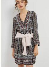 Anthropologie NEW NWT $168 Naomi Cool & Crisp Embroidered Swing Dress Medium