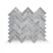 Smart Tiles SM1073-1 SELF-ADHESIVE WALL TILES 1/SHEET CORTINA GRIGIO PEEL STICK