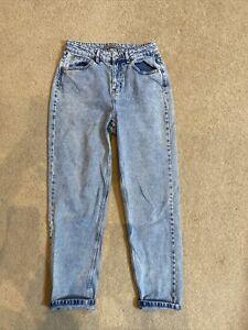 Womens Size 10 High Waisted Mom Mum Jeans Acid Wash Blue Vintage