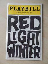 April 2006 - Barrow Street Theatre Playbill - Red Light Winter - Denham