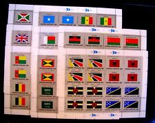 FLAGS OF THE WORLD SHEETS - SEVEN SHEETS MNH OG (SEE NOTE)