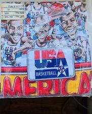 Usa Basketball Olympics Michael Jordan ,Larry Bird .T-Shirt (L)