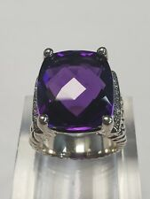 David Yurman wheaton Ring Amethyst and Diamonds