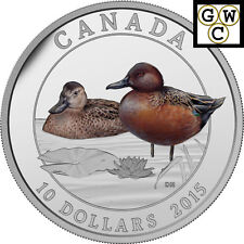 2015 Proof $10 Silver 'Cinnamon Teal' Coin .9999 Fine Silver (17000) (NT)