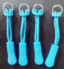 4 x  BLUE  ZIP TAG PULLER REPAIR FIX MEND KRIEGA TOURATECH OGIO OXFORD BAGSTER
