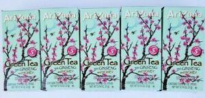 5 Boxes Arizona Green Tea w/ Ginseng & Honey Drink Mix 10 Packets = 50 Sticks