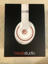 New Beats by Dr. Dre Studio 2.0 Wired Over-Ear Headphone B0500 WHITE WIRED