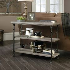 Behind Sofa Table Couch Console With Storage Shelves Rustic Industrial Furniture