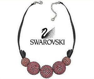 Swarovski Crystal Pin-Up Pink Necklace Pendant Indian Pink -1127197 New