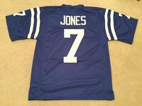 UNSIGNED CUSTOM Sewn Stitched Bert Jones Blue Jersey - M, L, XL, 2XL
